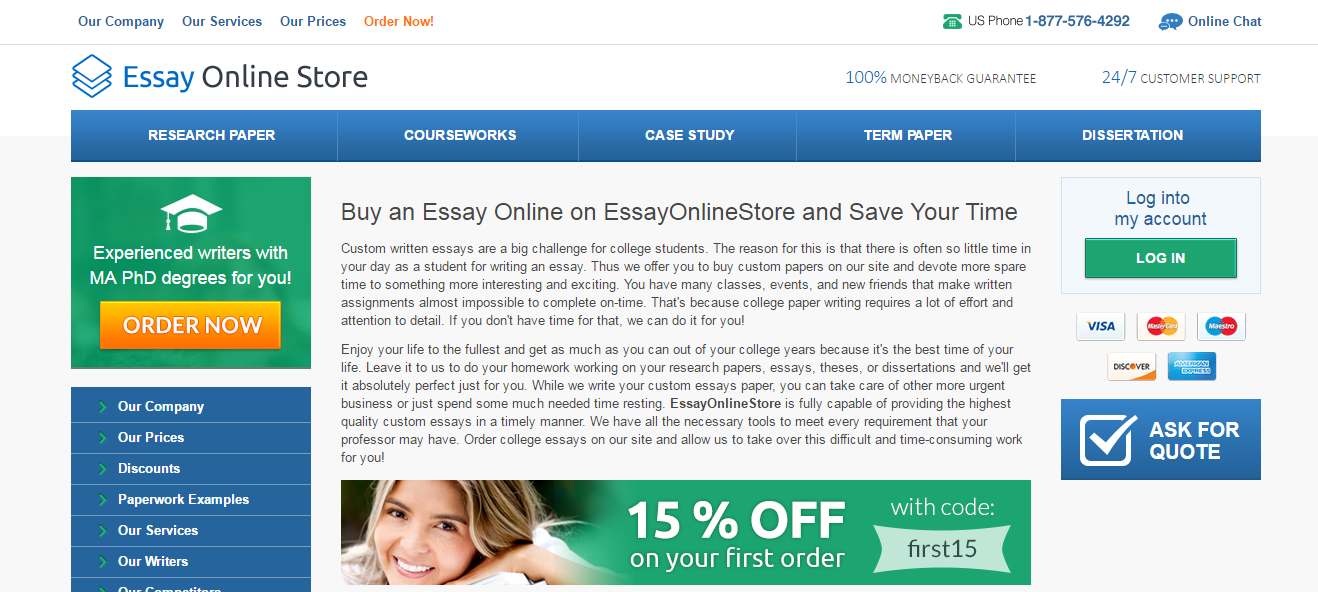 Essay online store Review