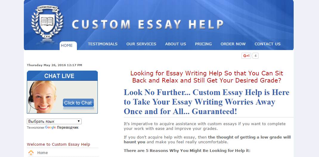 Custom Essay Help Review