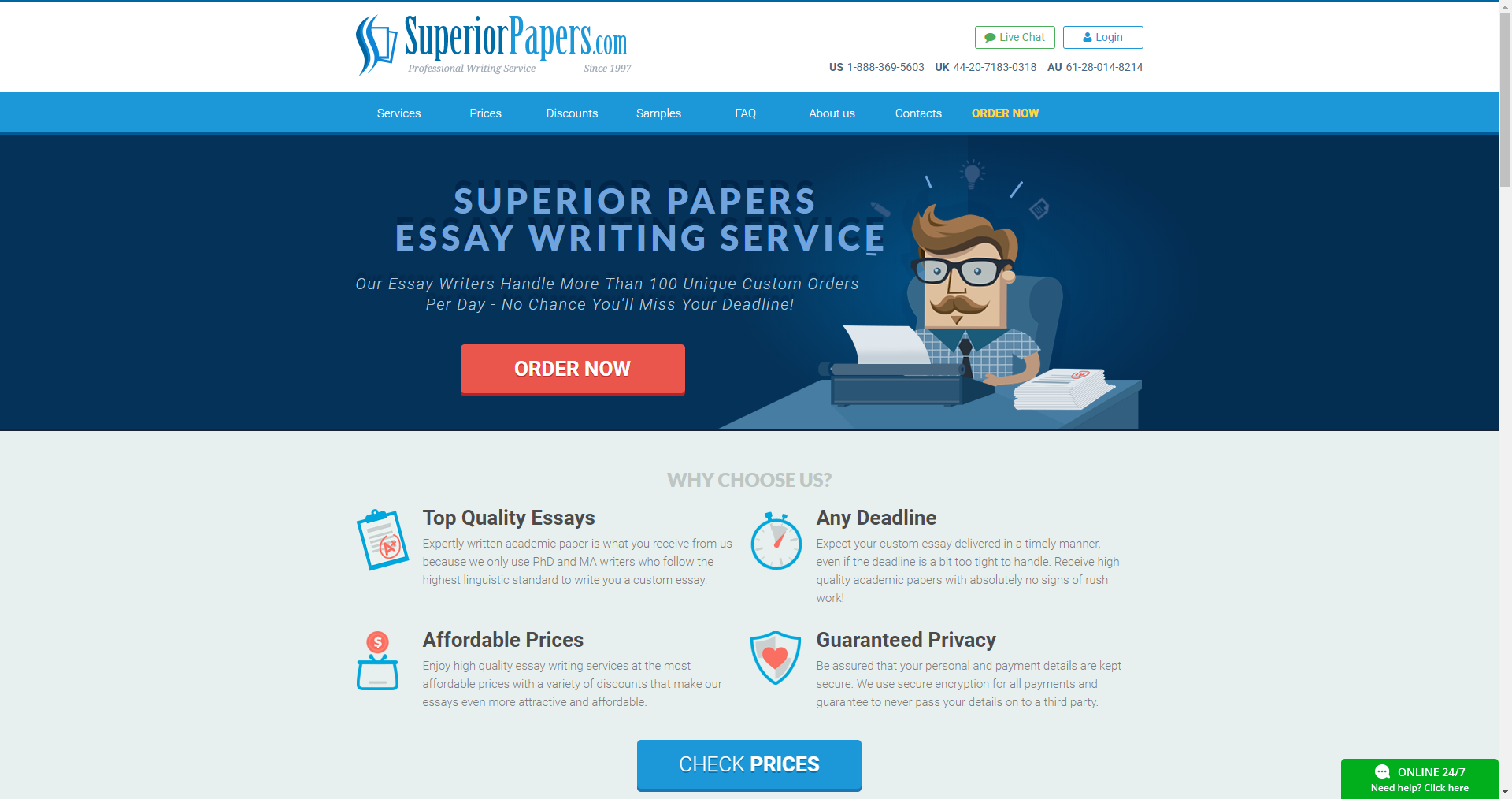 Superiorpapers Main Page