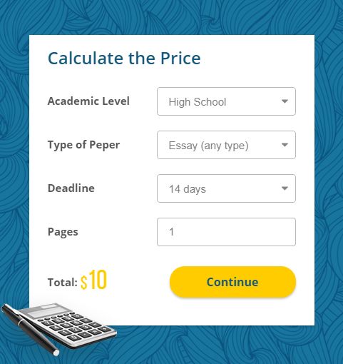 Writer4Sale Calculate Price